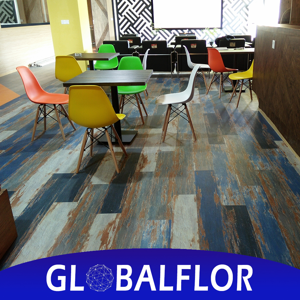 wooden pattern peel and stick tile waterproof self-stick LVT SPC pvc floor vinyl tile