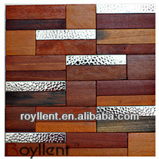 300x300mm Ancient Boat Wood Mosaic/old ship wood mosaic/brilliant mosaic tile
