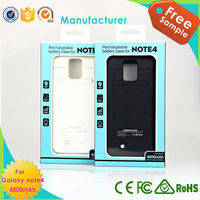 OEM Extended power case for Samsung Note 4 battery case