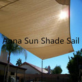 5x5x5 M/PCS HDPE Triangle Sun Shade Sail with UV protection for pool