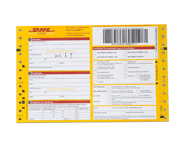 Inch Logistic Consignment Note With Barcode For Dhl  Buy