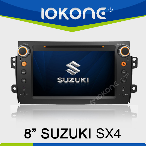 In dash double din touch screen car radio dvd gps navigation system for Suzuki SX4