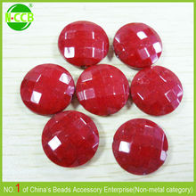 Alibaba express Italy High quality faceted acrylic flat round beads