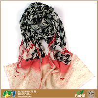 Women's Large Fine 100% Pure Merino Wool Scarfs with birds and giraffe print 100% wool lightweight scarves shawl wrap