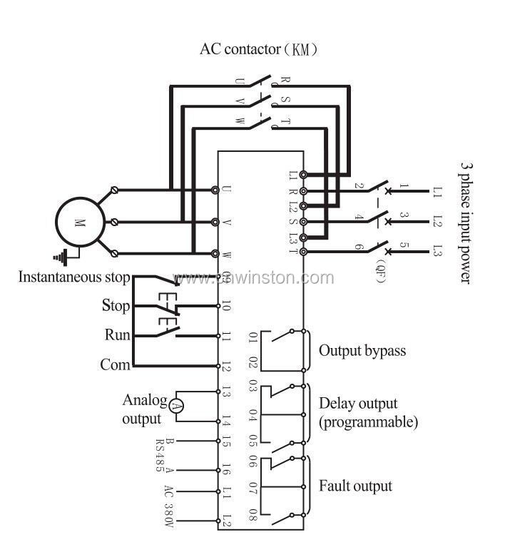 soft starter connection diagram