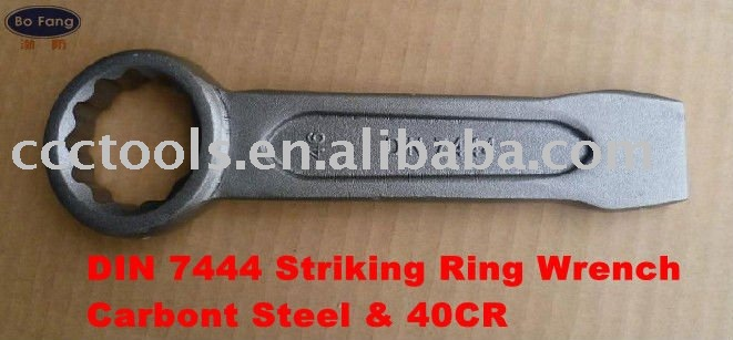DIN 7444 Striking Ring Wrench- Carbon Steel & 40CR Slogging Ring Spanner