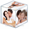 China supplier custom clear large six sides acrylic cube photo frame
