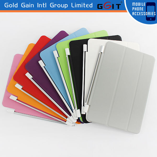Lattice Lines PU PC Foldable Stand Case Cover for iPad Mini