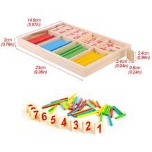 Math Learning Wood Iq Puzzle Montessori Toy With Wooden Mathematics Material Stick