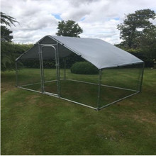 4m x 3mX2m high galvanised extendable hens ducks poultry rabbit walk in chicken run coop