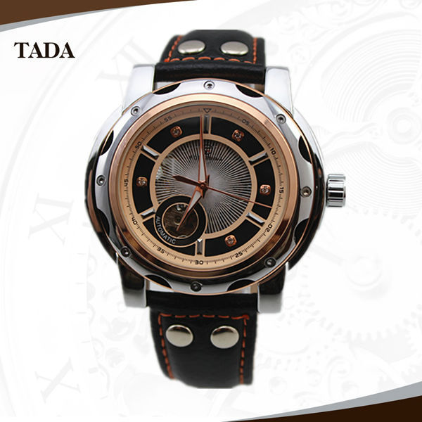 New FORSINING brand army genuine leather band unique skeleton design fashion men's automatic watch