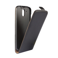 CA025 Plain Pattern cell phone PU leather case for HTC Desire 526 Open from top to buttom mobile phone cases