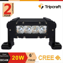 12V led work light 20w CRE E, forklift safety led light,20w led light bar 6inch led car light
