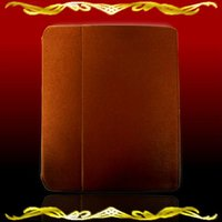 iPad case (iPad 2&3) stylish brown PU leather surface silicone holder to protect your iPad excellent quality from Japan