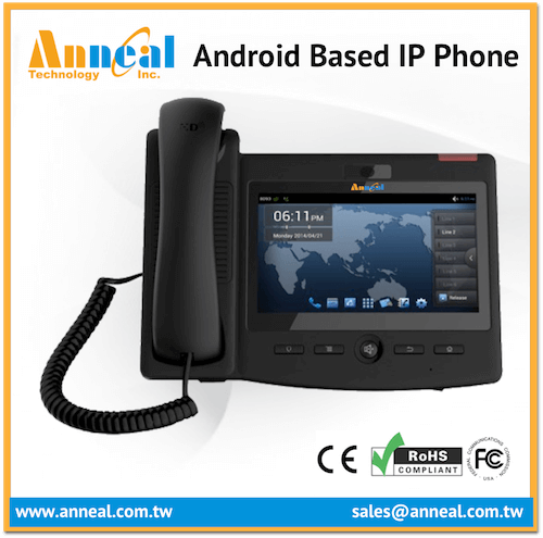 Advanced 7'' Multi Touch Screen VoIP SIP Android Desktop IP Phone
