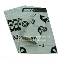 Plastic white black packaging bag shipping from china to worldwide