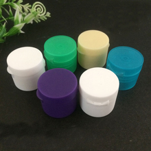 colorful plastic flip top caps for toothpaste tubes