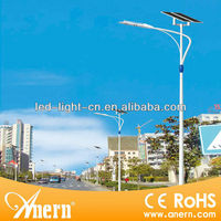 120W energy saving solar pv led street light with monocrystalline panel