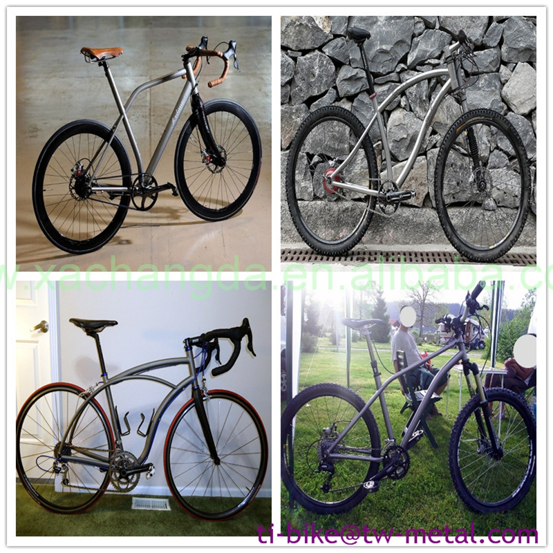 sliding dropouts mountain bicycle frame custom titanium mtb bike frame MTB bicycle frame with handing brush finished