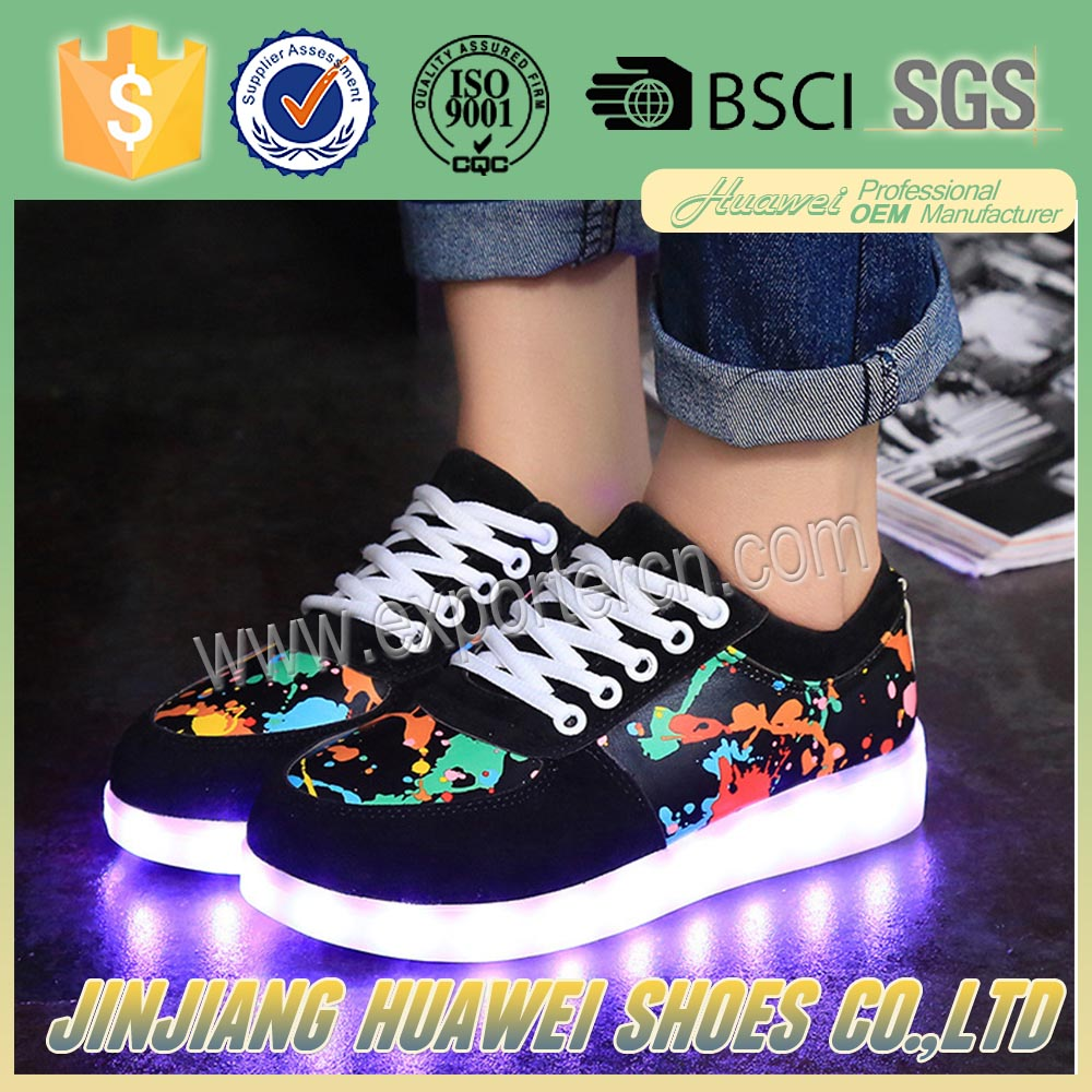 2017 Colorful Painting Led Shoes With cool model