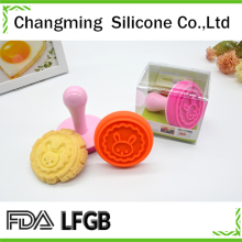 colourful silicone cookie cutter with different lovely patterns