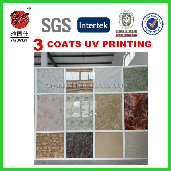 4'x8' modern Marble UV board/PVC Decorative Board/PVC plastic stone