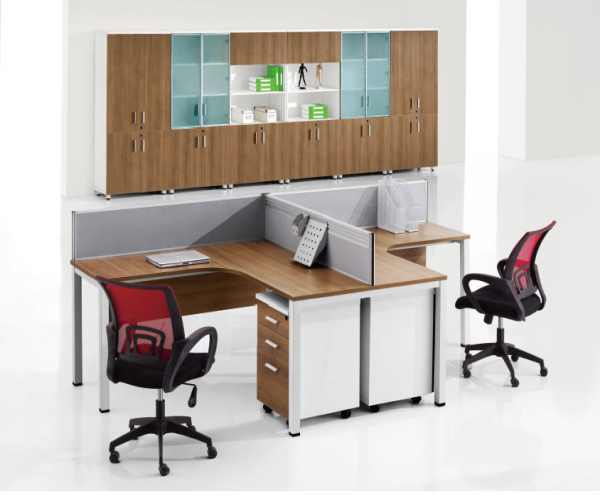 Wood office table design call center workstation buy for Center table design for office