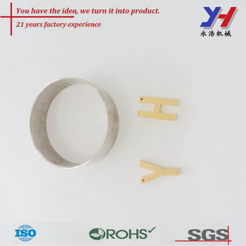 oem odm Custom Cnc machining alloy aluminum ring for curtain