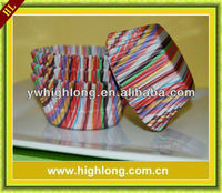 Rainbow Stripe Cupcake Liners Baking Cups.