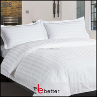 "polyester 65% cotton 35% tc 32x32 133x75 68"" 2.5cm satin stripe fabric for hotel bed sheet or hospital bed sheet"