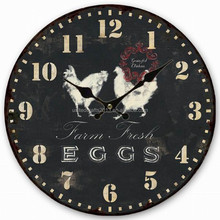 Antique custom low price canvas wall clock for promotional