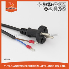VDE approval 2 pin electrical tools vde plug power cord.power cords with molded plug.European 2 pin plug power cord
