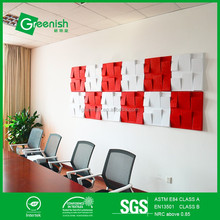 Eco-friendly high quality 3d acoustic wall panels