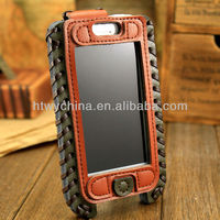 Big Discount ! 2013 Showkoo Luxury Case Genuine Leather For iPhone 5 5s 5c