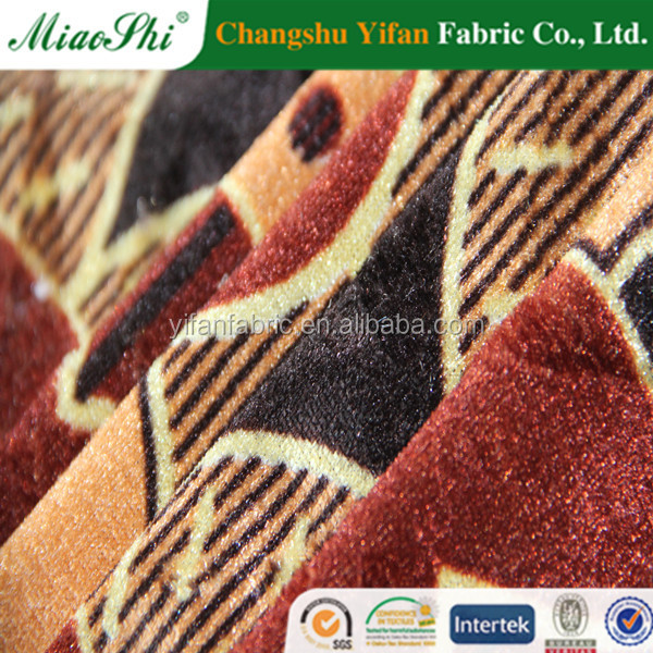 100% Polyester Warp Knitted Tricot Velvet Sofa Fabric