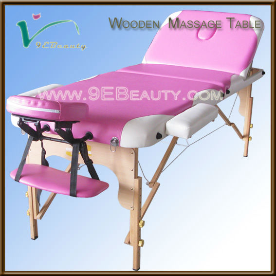 Ayurvedic equipment 3 section solid wood massage bed