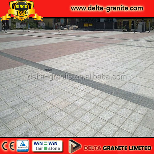 Standard popular flamed outdoor granite for paving, CE certificate flamed outdoor granite for sale