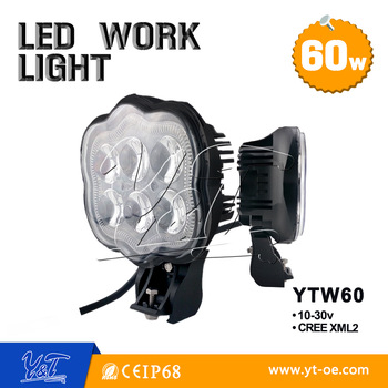 4x4 led work lamp mounting ears brackets 40w led worklamp
