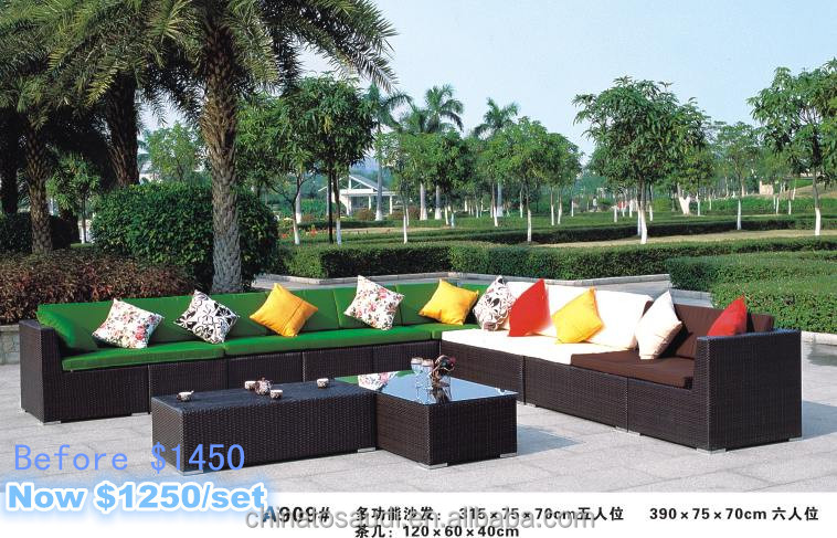 Best-selling outdoor leisure sofa set/outdoor garden set with free pillows