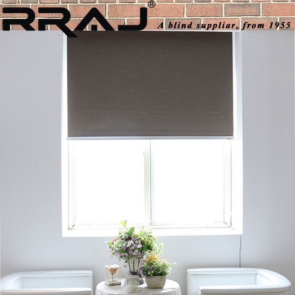 RRAJ Motorized Vinyl Roll up Wndow Roller Shades