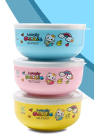 BPA FREE stainless steel round kids food container