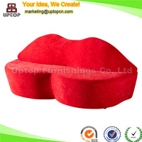 (SP-HC373) Fabric bocca kiss shaped red velvet lip chairs