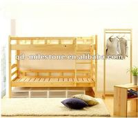 Natural Solid Wood Kids Bunk Bed