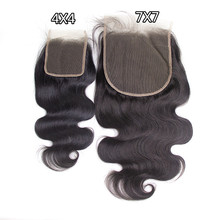 Good Quality Brazilian Cuticle Aligned 4X4 5X5 6X6 7X7 Lace Closures With Baby Hair,Pre Plucked Black Human Hair Lace Frontal
