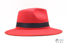 Fashionable felt wool fedora hat factory direct hats
