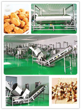 Big capacity green beans frying machine automatic frying line for nuts