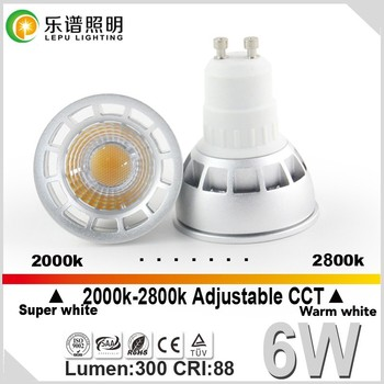 newest design CCT Dimming reflector dimmable gu10 led spotlight 45/60 degree beam angle with 3years warranty