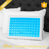 100% bed cooling gel memory foam neck pain relax led pillow