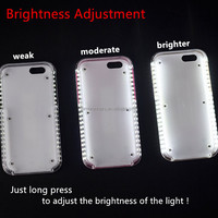 China manufacturers hot selling phone case for iphone LED light selfie case for iphone
