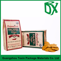 flat bottom potato chips packaging paper bags fried food pouch